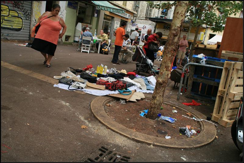 Nach dem Markt, in einer Grossen Stadt