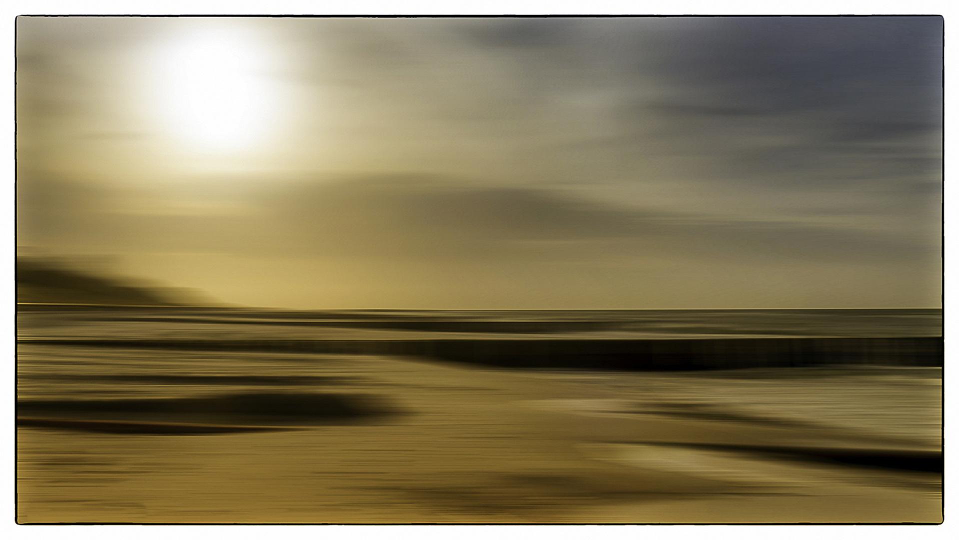 ... nach dem Sandsturm in Ahrenshoop ...