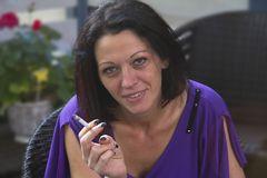 Nach dem Shooting: Erst mal 'ne Zigarette
