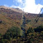 Nach dem Umsteigen in der Zwischenstation gehts weiter zum Gipfel des Monte Baldo