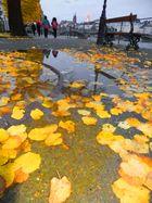 Nach einem regnerischen Tag in Basel