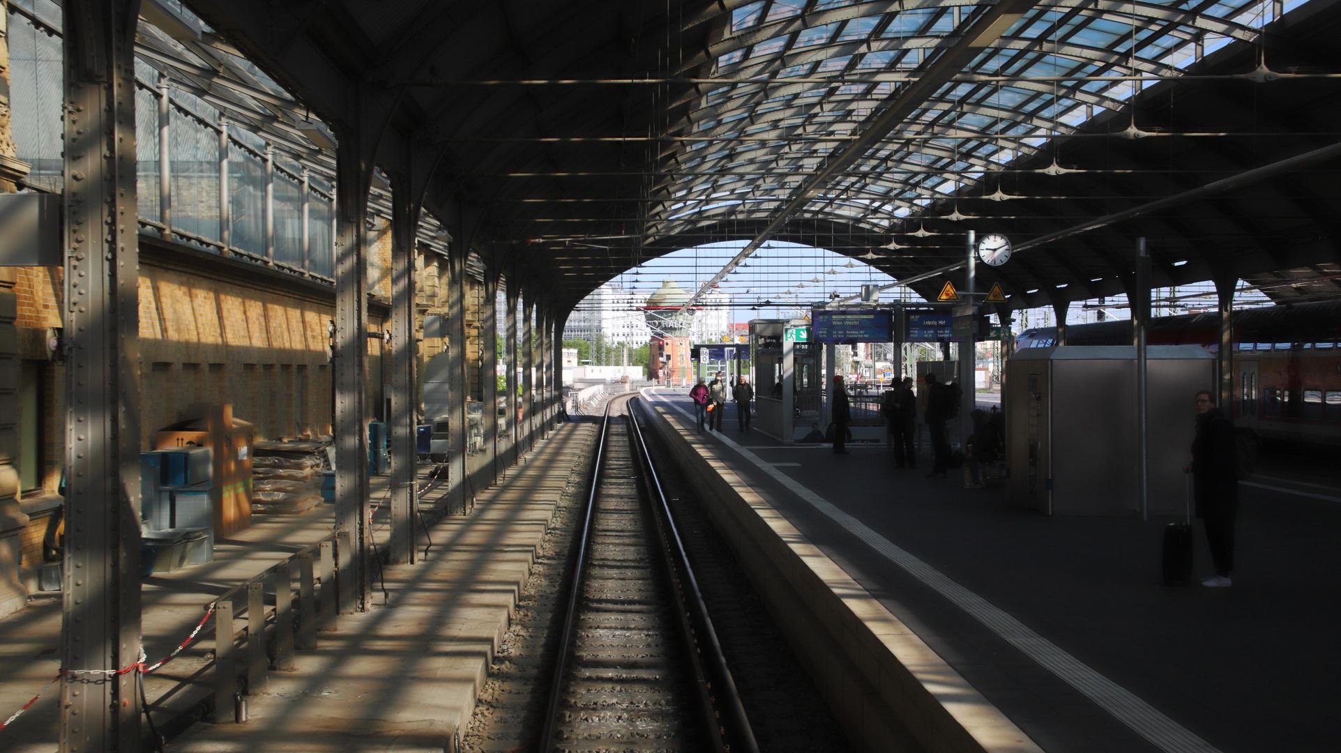 Nach kurzem Stopp in Halle/Saale gehts weiter