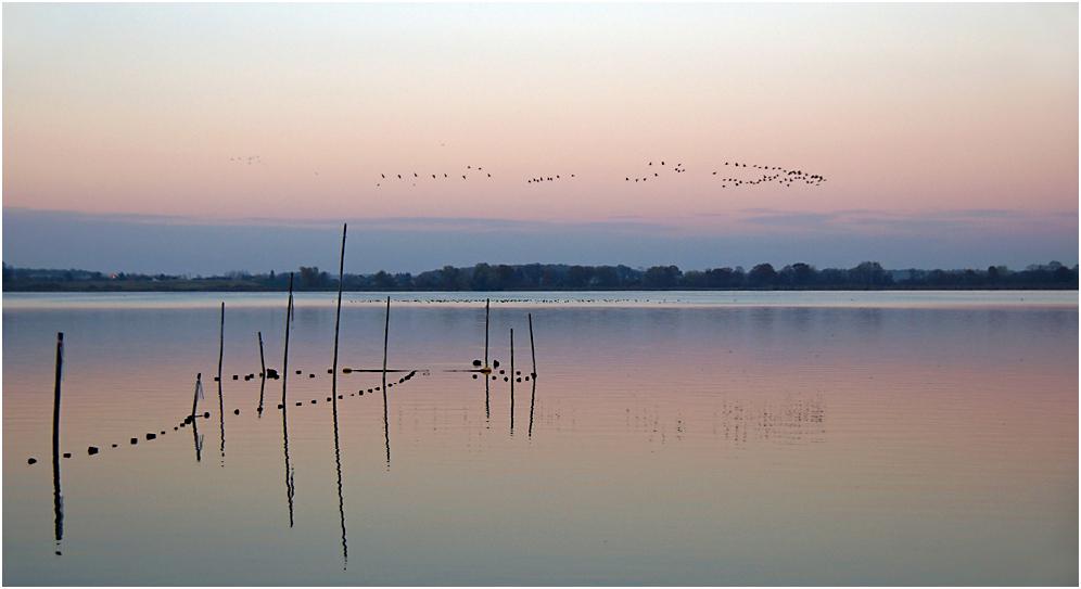 Nach Sonnenuntergang am Fahrlander See