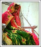 Nachdenkliche Braut