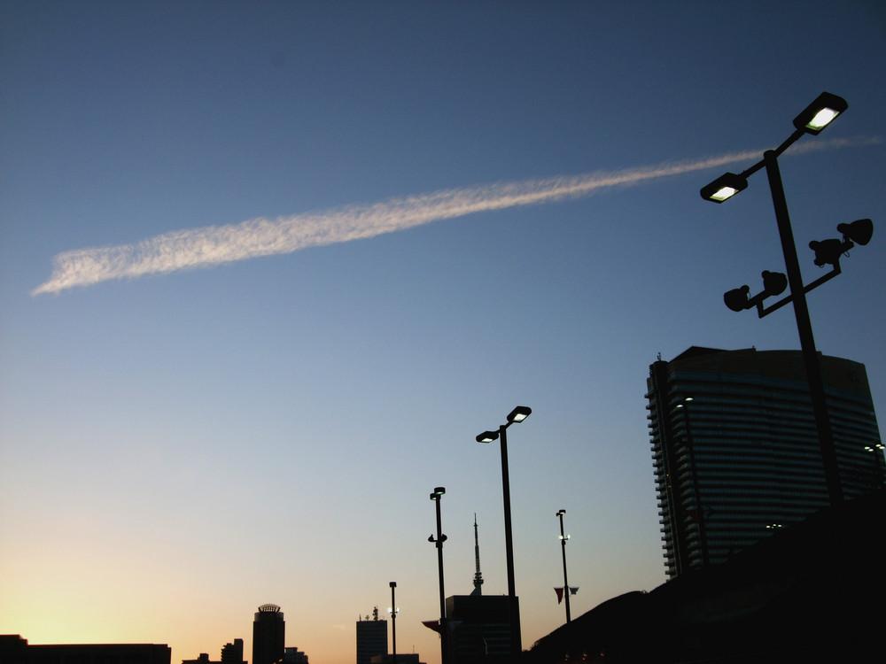 Nachhimmel über Fukuoka, Japan