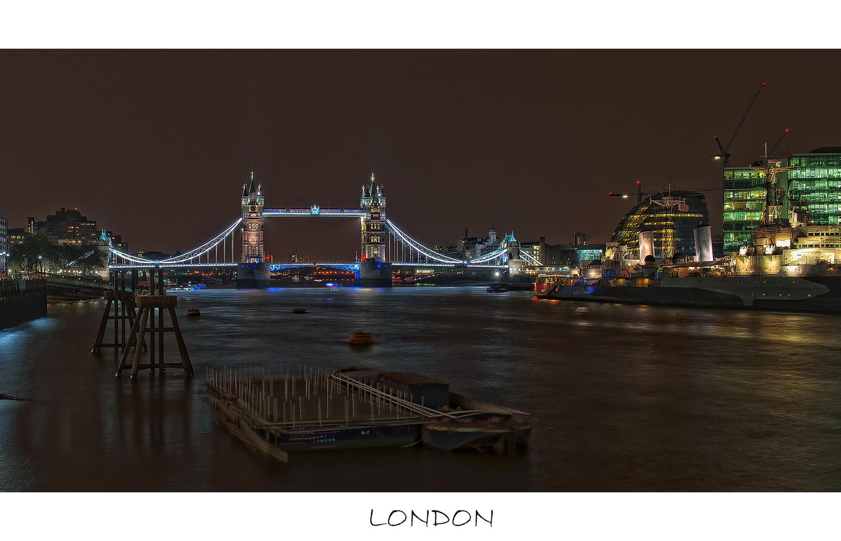 Nacht an der Themse