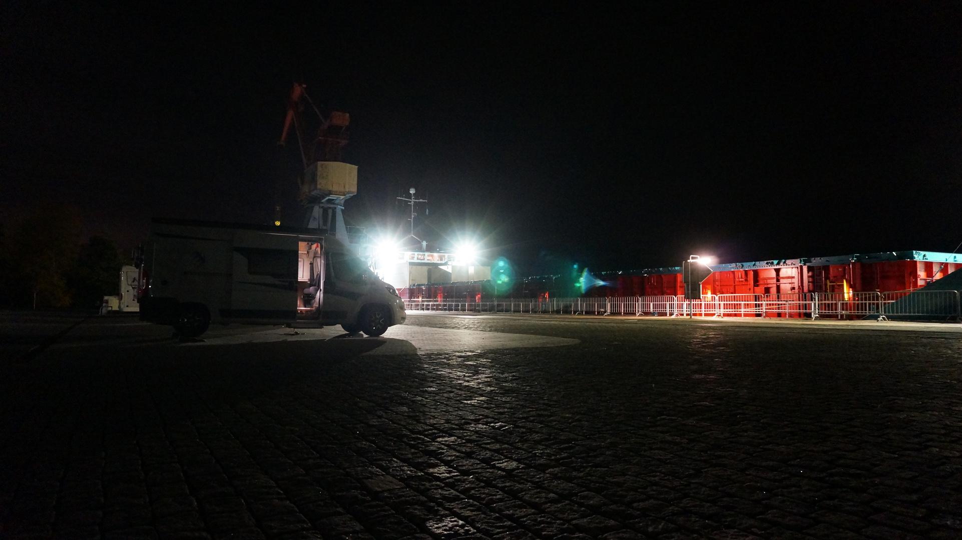 Nacht auf der Kaje in Elsfleth
