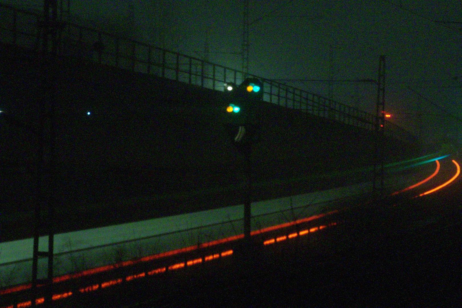 Nacht aufnahme Bahn