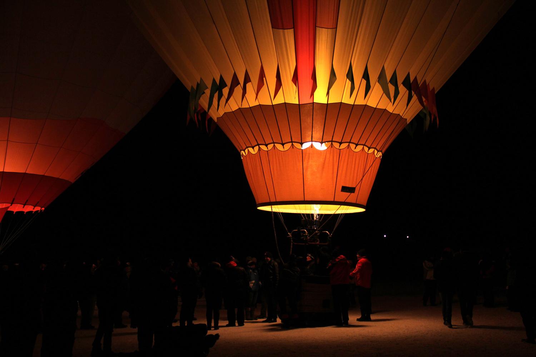 Nacht der Ballone in Gosau, Österreich, OÖ.