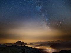 Nacht in den Dolomiten