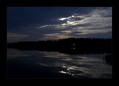 Nacht in Lapland