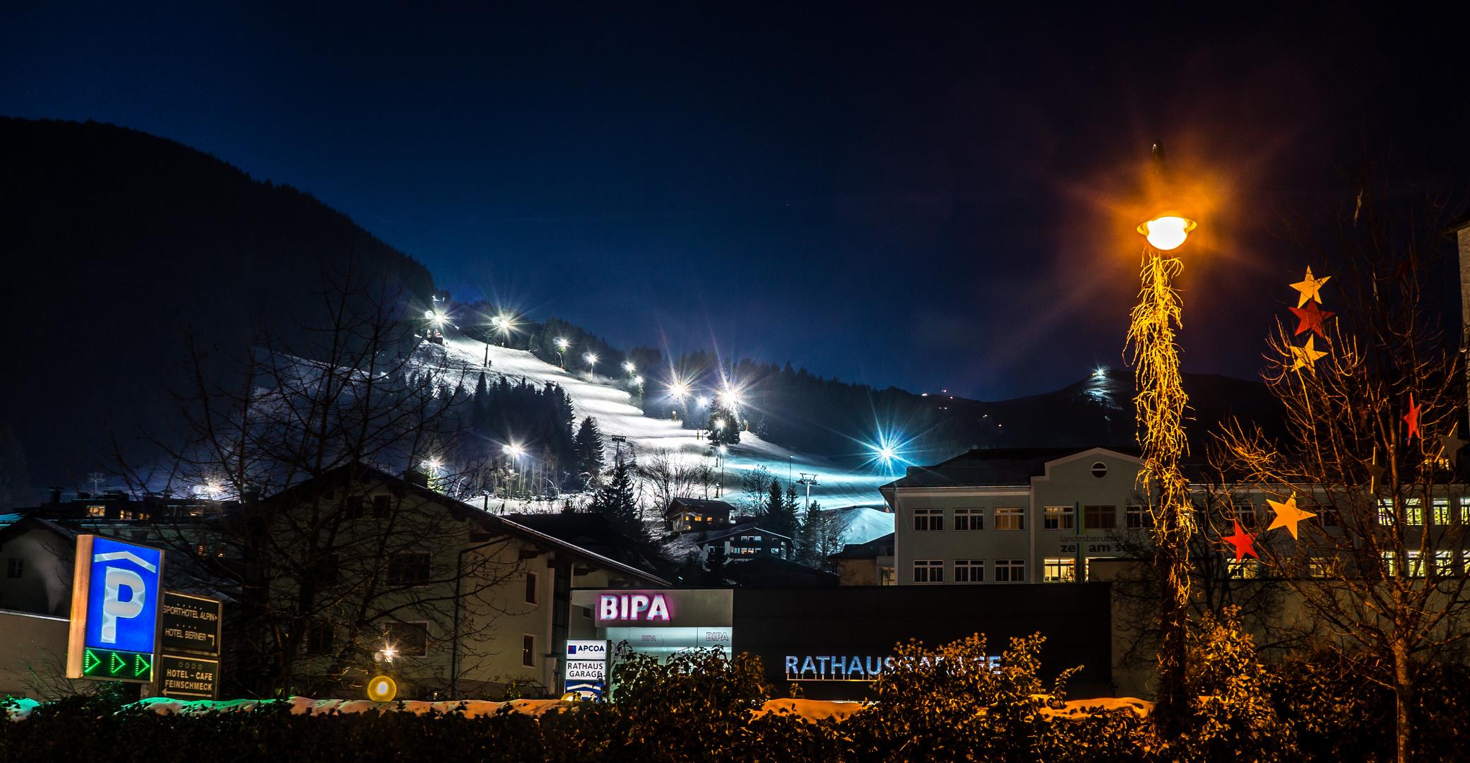 Nacht Skifahren !