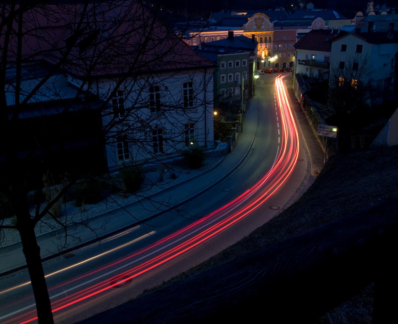 Nacht über dem Ludwigsberg Burghausen
