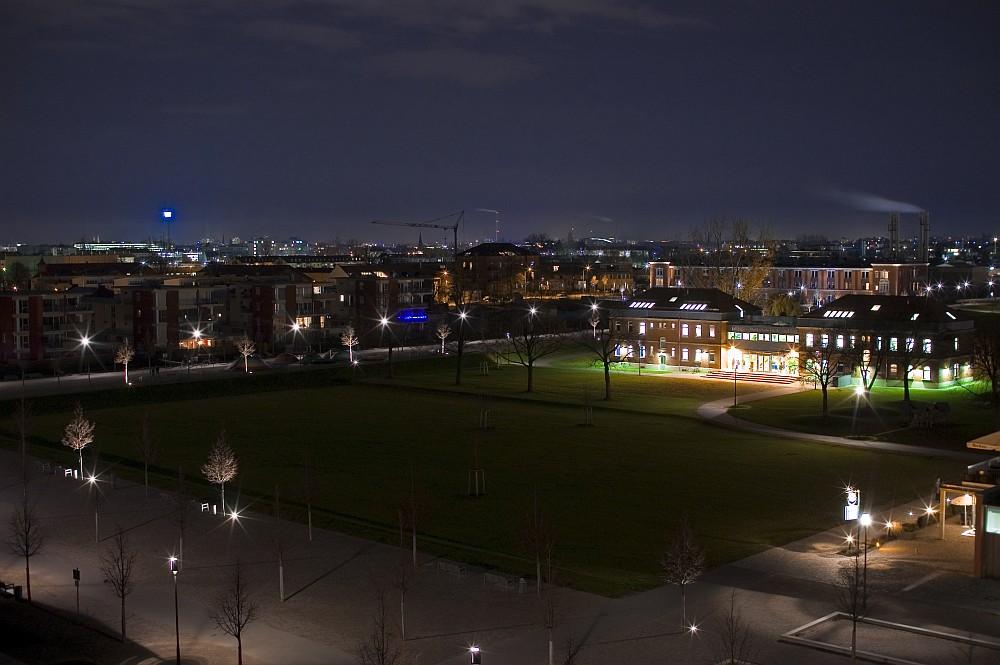 Nacht über dem Park