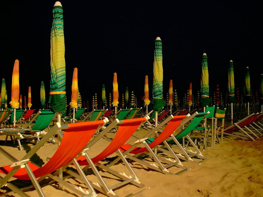 Nachtafnahme am Strand