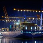 Nachtarbeit am Hamburger Container Terminal