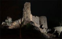 Nachtaufnahme Burg Stolpen  - wie dazumal -  24.02.2020