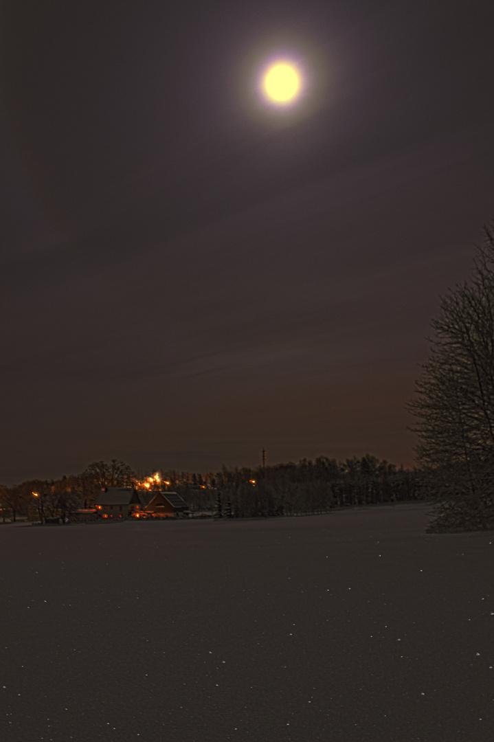 Nachtaufnahme Lauta Oberdorf