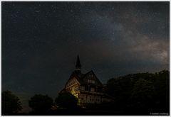 Nachtaufnahme mit dem restlichen Zentrum der Milchstraße
