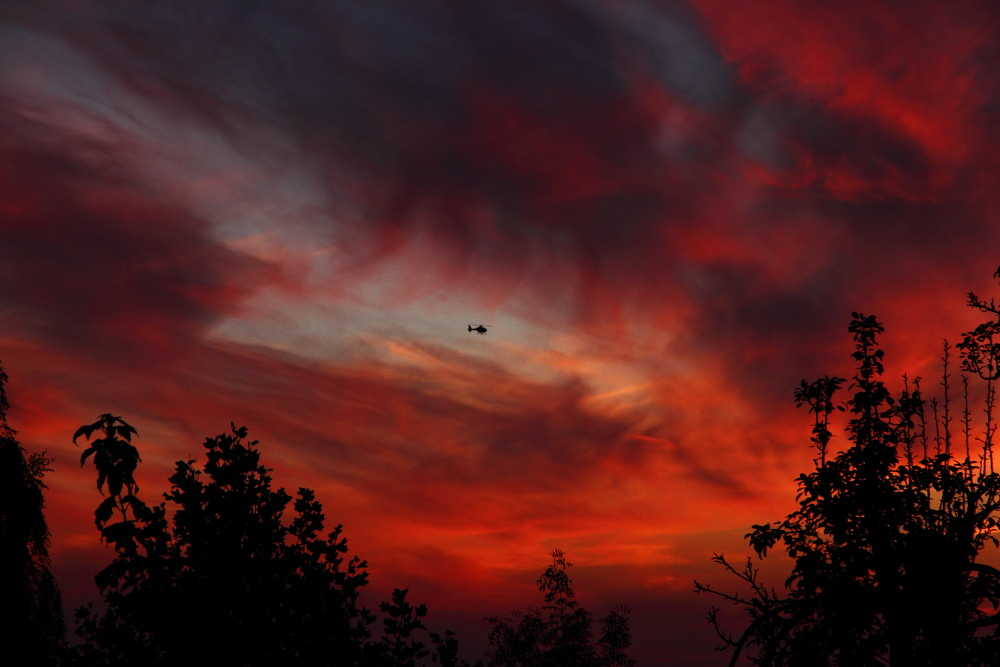 Nachtflug in Achum
