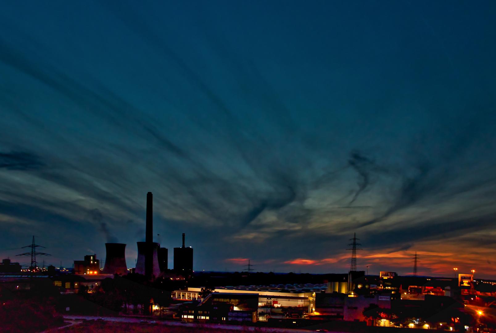 Nachthimmel in Duisburg