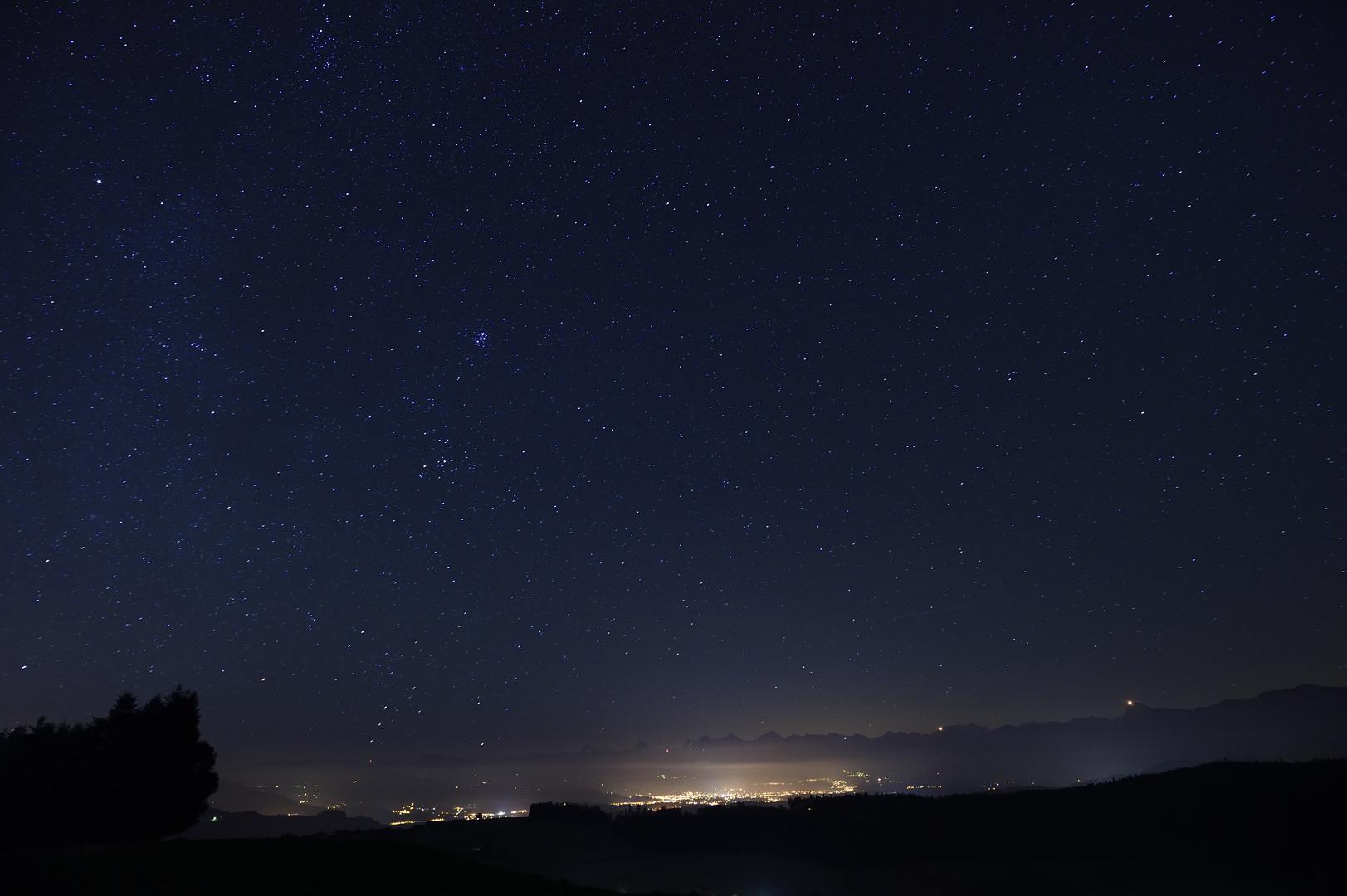 Nachthimmel über Thun - fc-Treffen Bütschelegg