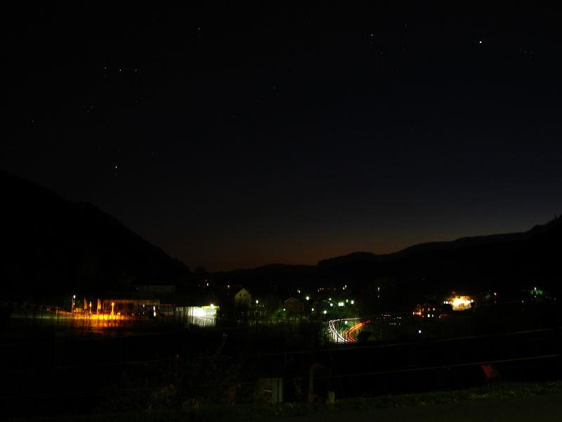 Nachthimmel über Weissenstein