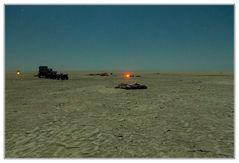 Nachtlager in den Makgadikgadi Salzpfannen