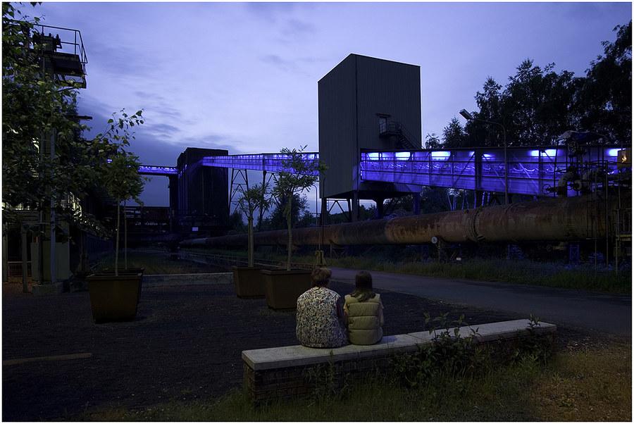 Nachtlicht auf Hansa