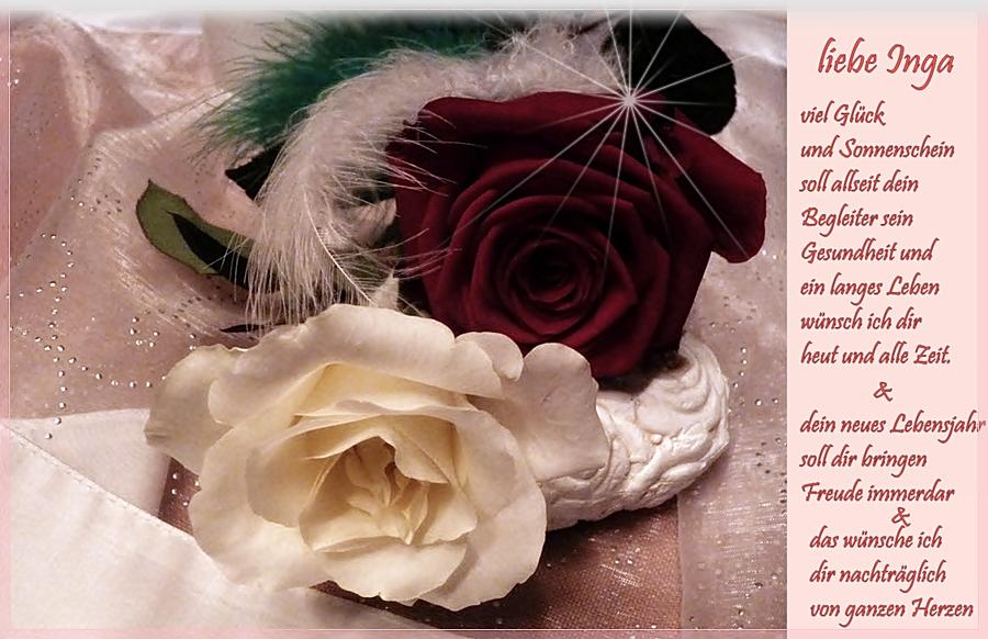Nachträglich Zum Geburtstag Liebe Inga Foto Bild Gratulation