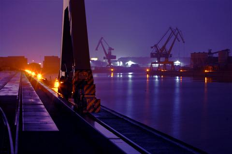 Nachts am nürnberger Hafen