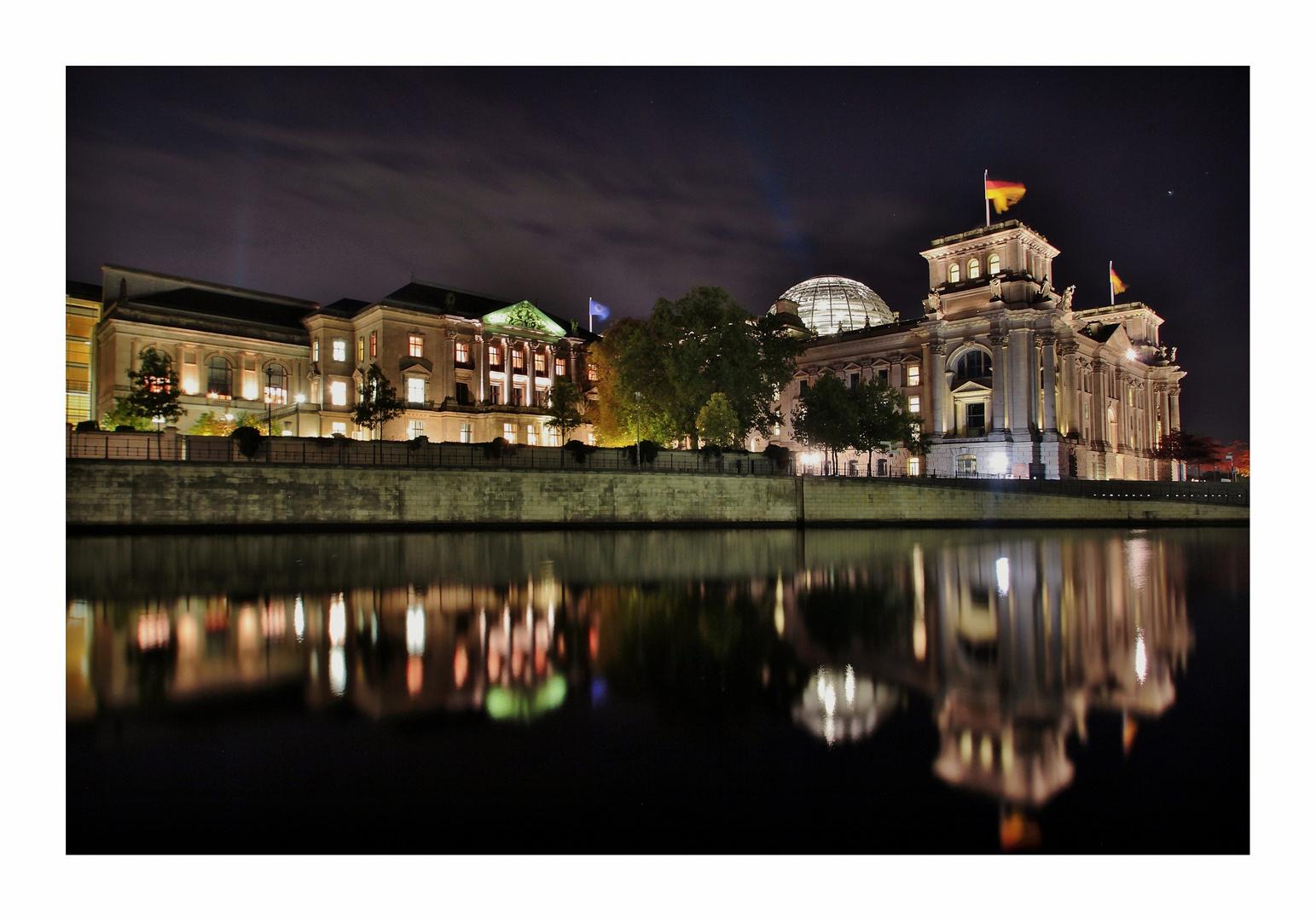 Nachts am Reichstag