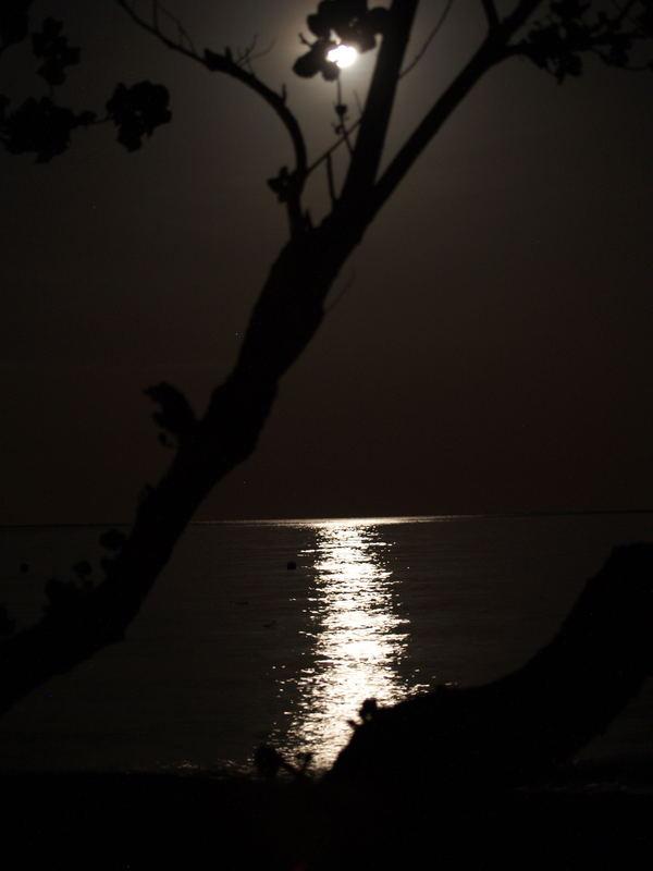 Nachts am Strand von Bali