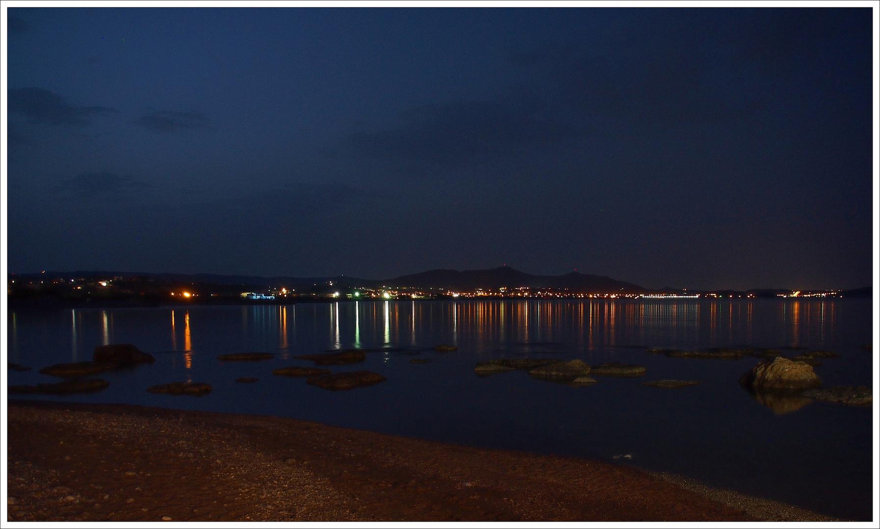 Nachts am Strand von Kolymbia