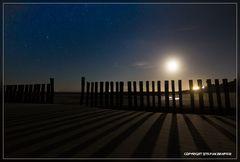 Nachts am Strand von Wangerooge