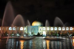 Nachts an der Lotfullah-Moschee (Isfahan)