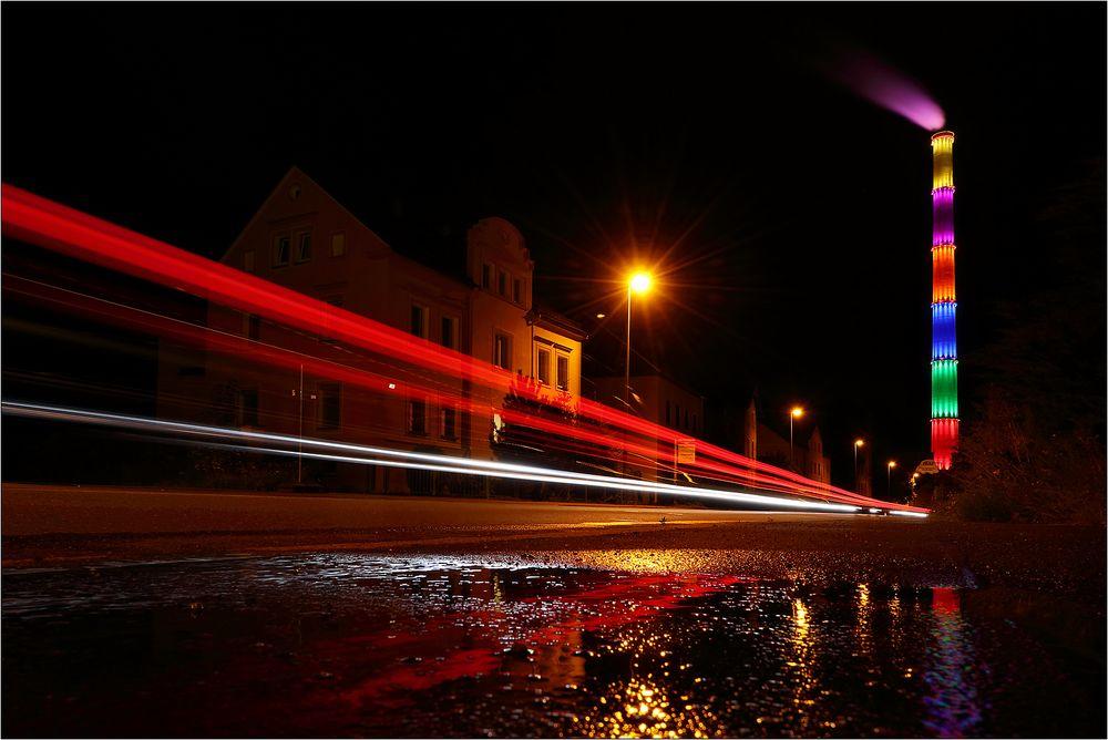 Nachts auf der Chemnitztalstraße...