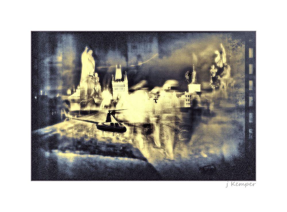 - nachts auf der Karls-Brücke -