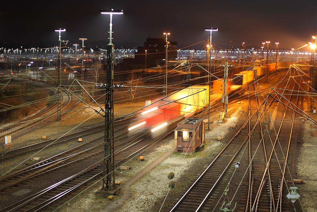 Nachts auf Europas größtem Rangierbahnhof