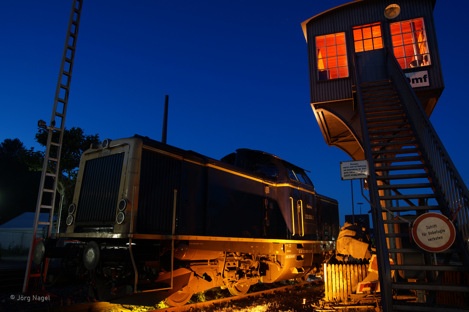 Nachts im Eisenbahnmuseum 2