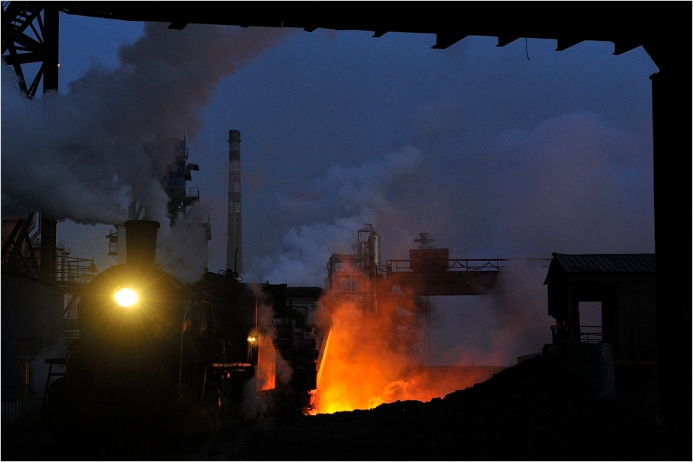 Nachts im Stahlwerk I