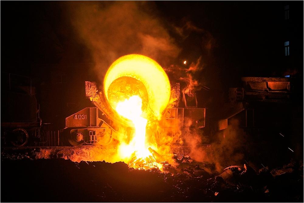 Nachts im Stahlwerk VI
