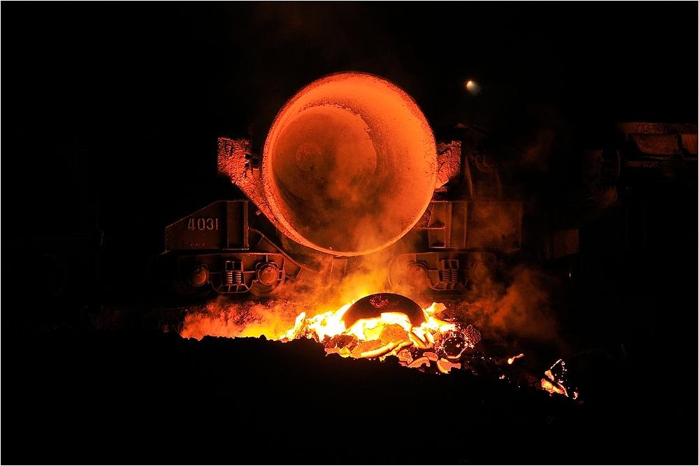Nachts im Stahlwerk VII