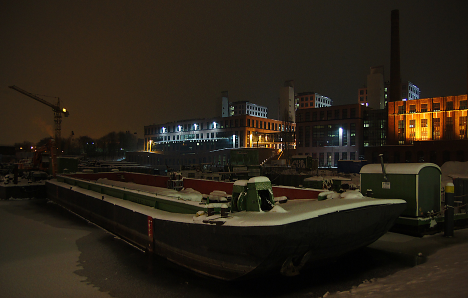 Nachts im Tempelhofer Hafen, 17.01.10 – 01