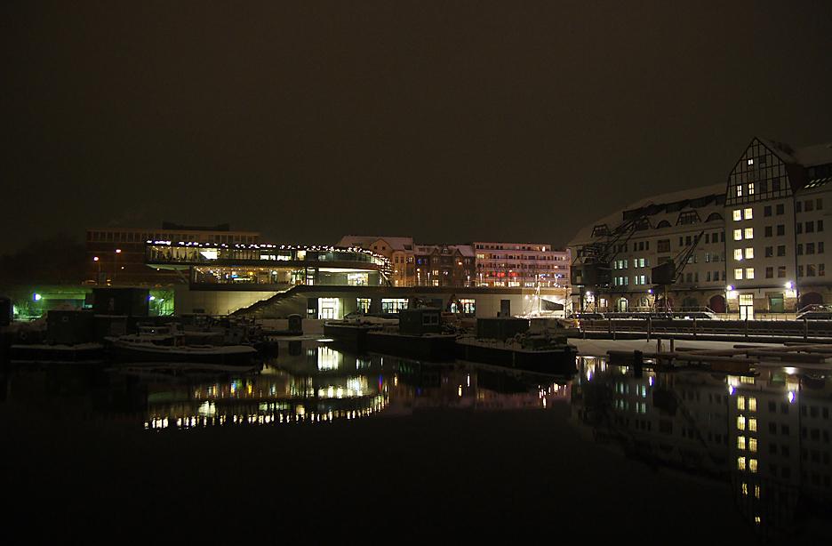 Nachts im Tempelhofer Hafen, 17.01.10 – 07