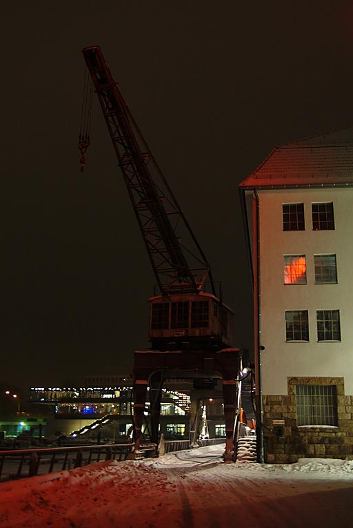 Nachts im Tempelhofer Hafen, 17.01.10 – 12