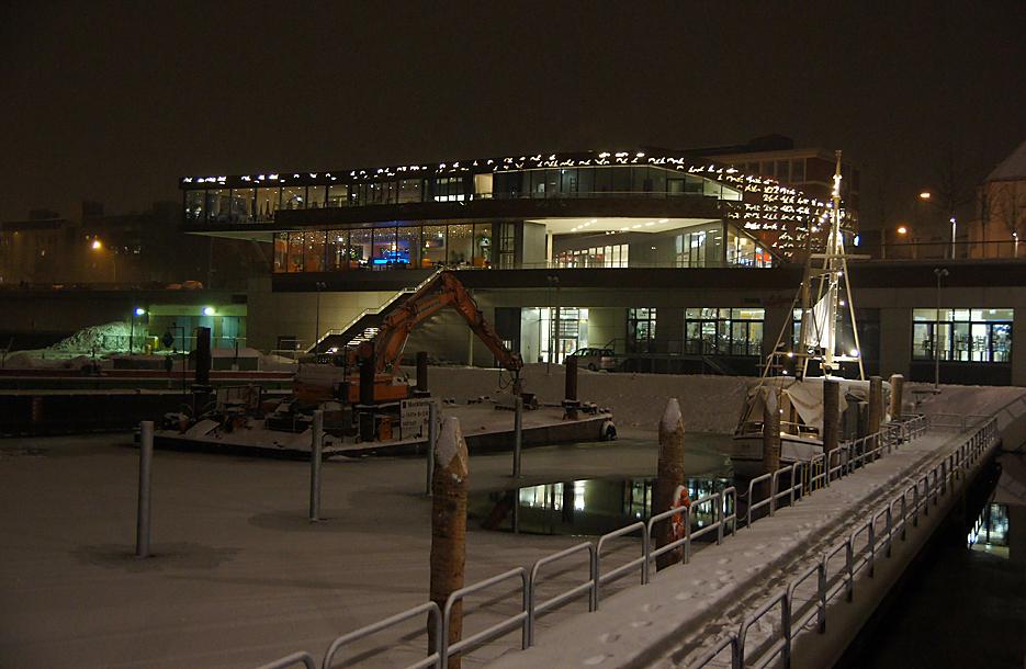 Nachts im Tempelhofer Hafen, 17.01.10 – 14