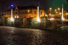 Nachts im Wissenschaftshafen