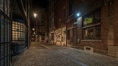 Nachts in den Gassen von Liège