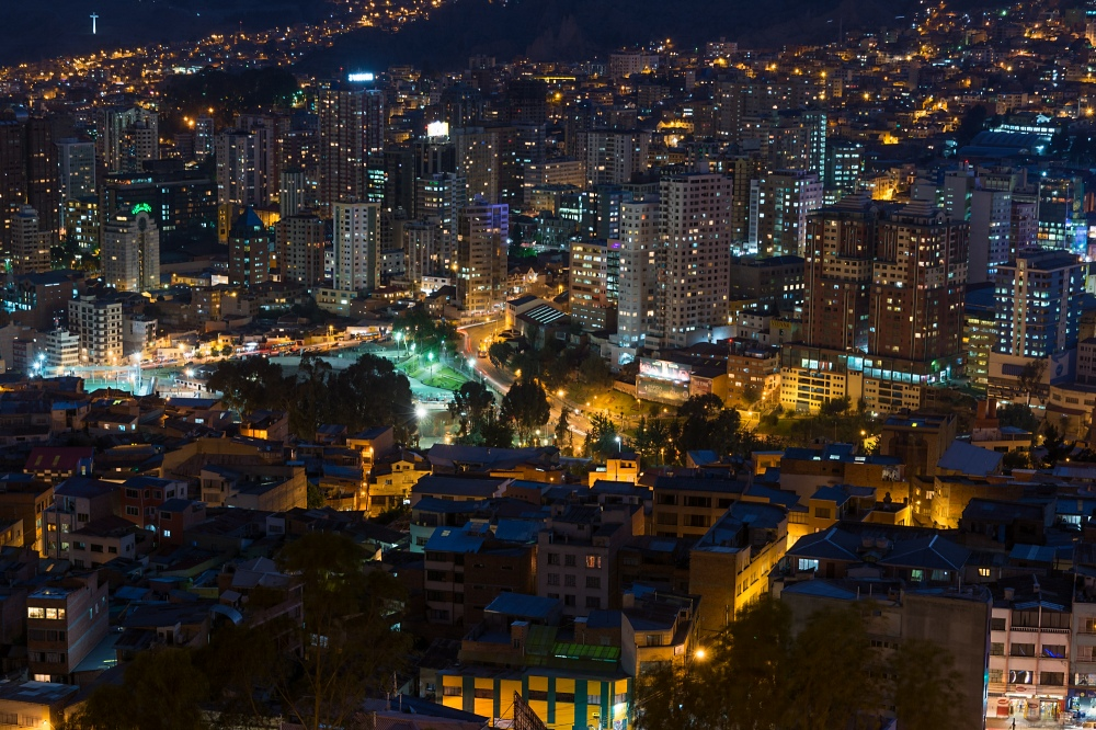 Nachts in La Paz